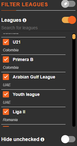 arbmate exclude leagues