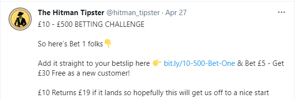 affiliate twitter tipster